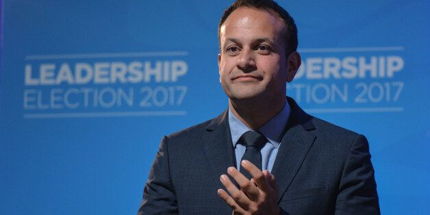 Leo Varadkar at the Mansion House in Dublin where he was elected the new leader of Fine Gael and on course...
