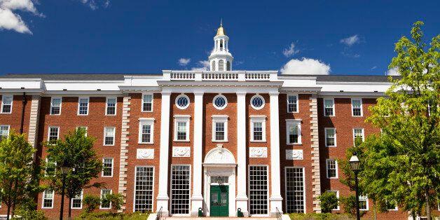 Harvard Business school building in Cambridge Massachusetts