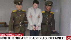 북한이 미국인 웜비어 석방 이유를 '한 줄'로