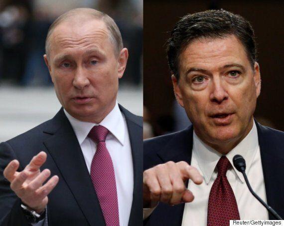 푸틴이 미국의 전 FBI국장 제임스 코미에게 망명을