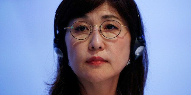 Japan's Defence Minister Tomomi Inada prepares to speak at the 16th IISS Shangri-La Dialogue in Singapore...
