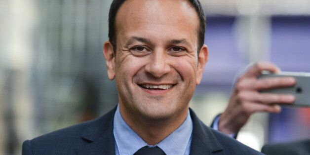 Leo Varadkar on his way to the Mansion House in Dublin, where he was elected the new leader of Fine Gael...