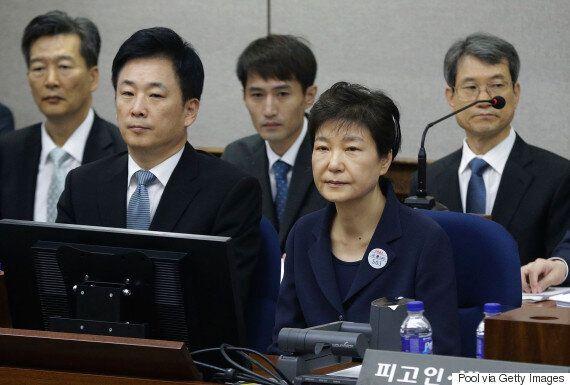 박근혜가 첫 재판에서