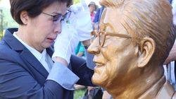 코미디 거장 '구봉서'의 동상이