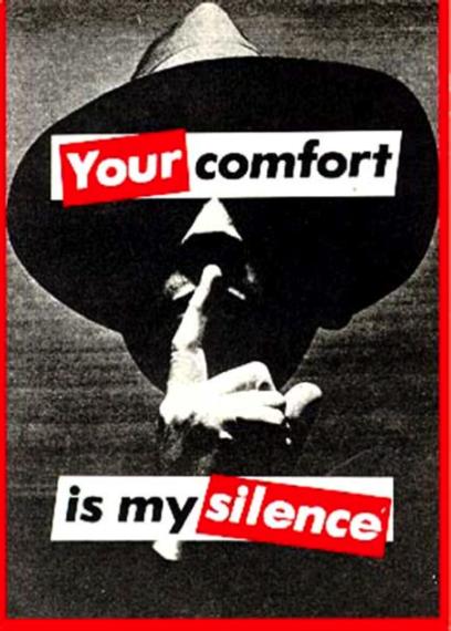 당신의 평화는 누군가의 강요당한 침묵으로 가능한