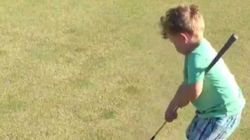 이 아이에게 골프는 너무 어려운