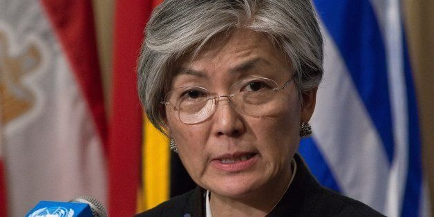 UNITED NATIONS HEADQUARTERS, NEW YORK, NY, UNITED STATES - 2016/01/15: Kyung-Wha Kang speaks with the...