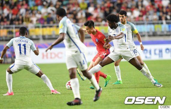[한국 잉글랜드] '이승우-백승호 교체투입' 한국, 잉글랜드에 0-1 패배... 2위