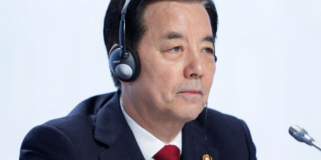 Han Min-Koo, South Korea's defense minister, attends the IISS Shangri-La Dialogue Asia Security Summit...