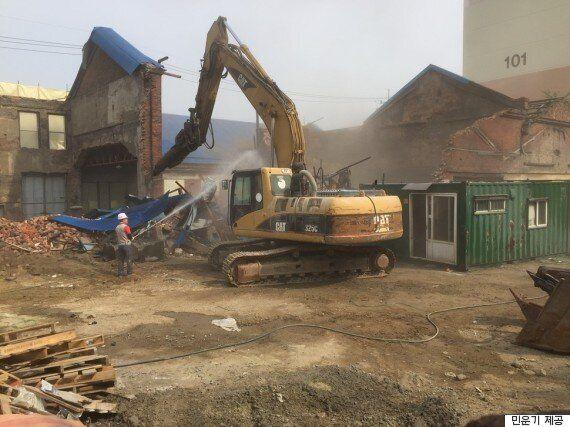 인천 중구청이 주차장을 만들겠다며 근대건축물을 기습