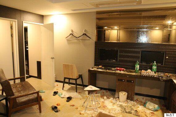 '방송 미션' 모텔 객실을 엉망으로 만든 BJ들이