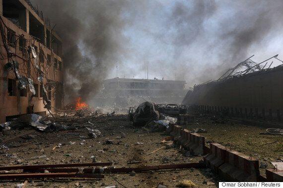 아프가니스탄 카불 대사관 밀집지역에서 대규모 차량 폭탄테러가