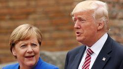 트럼프가 첫 일과로 메르켈에 반격 트윗을