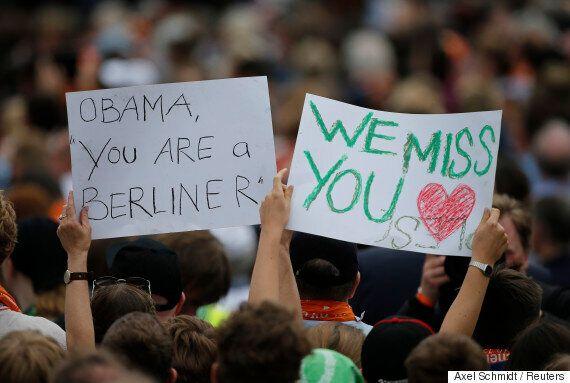 베를린에서 메르켈과 재회한 오바마가 녹슬지 않은 '트럼프 디스'를 선보였다