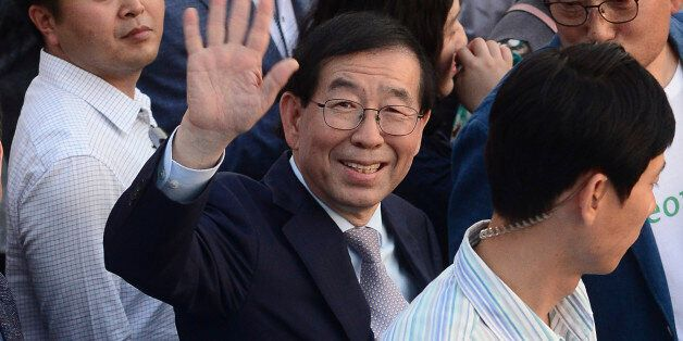 박원순 시장이 필리핀으로 출국하는
