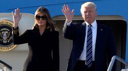 멜라니아 트럼프가 남편의 손을 또다시