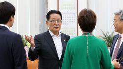 박지원은 '바른정당 통합'을 완강히