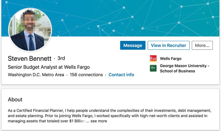 Steven Bennett: Not actually a Wells Fargo employee, a CFP, or a person connected to George Washington University's business school.
