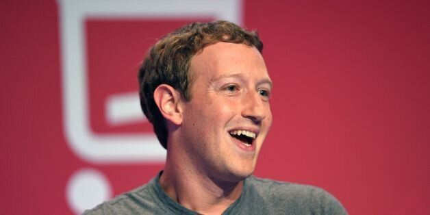 US online social networking service company Facebook Chairman, chief executive, and co-founder, Mark...