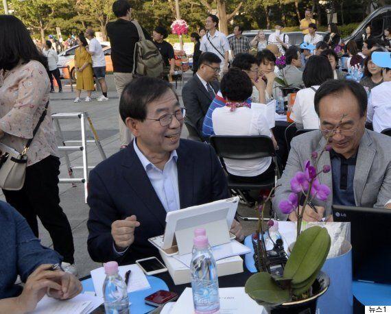 박 시장이 미세먼지 '심각'에 대중교통을 무료로 하겠다며 밝힌