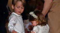 조지 왕자, 샬럿 공주가 결혼식 화동으로