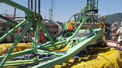 거제 삼성중공업 32톤 타워크레인 사고로 5명이