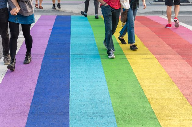 The rainbow crosswalks on Davie St. in Vancouver were installed in