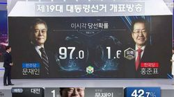 MBC 개표방송에서 방송사고가