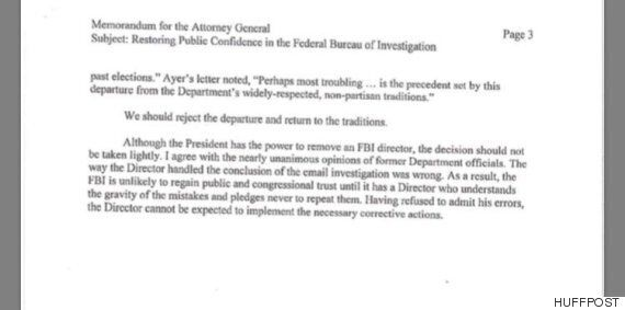 도널드 트럼프 미국 대통령이 제임스 코미 FBI 국장을 전격