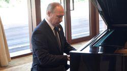 시진핑의 주거지에서 피아노를 연주한 푸틴에 대한 뉴욕타임스의