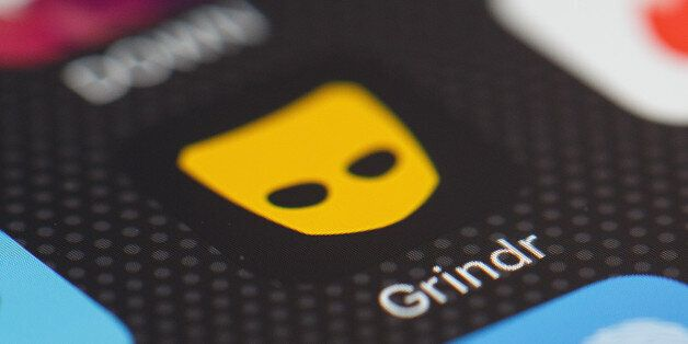 LONDON, ENGLAND - NOVEMBER 24: The 'Grindr' app logo is seen amongst other dating apps on a mobile phone...