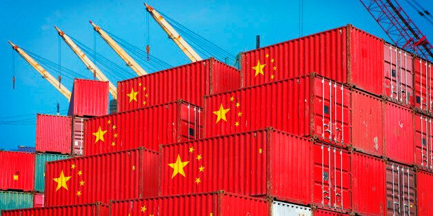 Chinese cargo containers in the