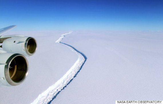 남극 대륙의 빙붕에 사상 최대의 균열이 벌어지고