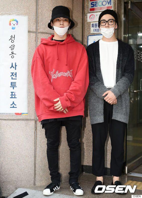 '무한도전' 멤버들도 사전투표에 나섰다(인증샷