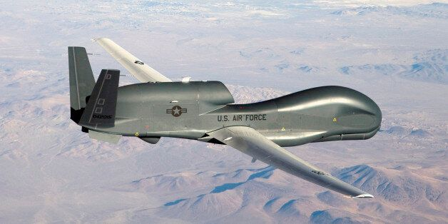 An undated U.S. Air Force handout photo of a RQ-4 Global Hawk unmanned aircraft. The U.S. Air Force has...