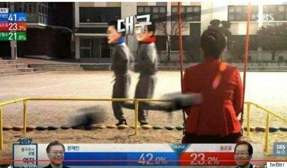 오늘 SBS 개표방송의 결정적 '약발' 장면이