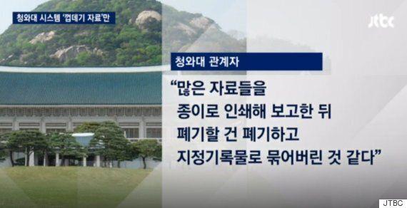 박근혜 정부가 문재인 정부에 넘긴 인수인계 자료의 놀라운