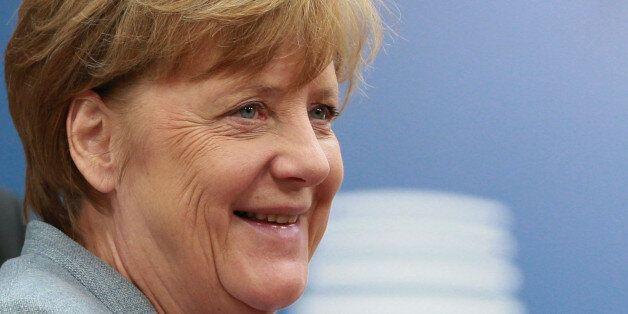 German Chancellor Angela Merkel arrives at the EU summit in Brussels, Belgium, April 29, 2017. REUTERS/Christian