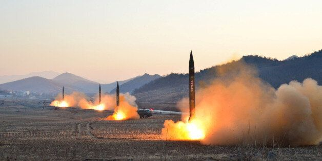 North Korean leader Kim Jong Un supervised a ballistic rocket launching drill of Hwasong artillery units...
