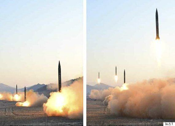 북한이 미사일을 발사했으나