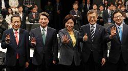 문재인 44.4%, 안철수 22.8%, 홍준표 13%(리얼미터