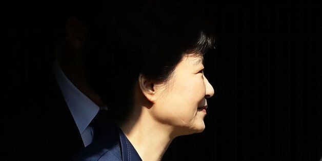 SEOUL, SOUTH KOREA - MARCH 30: Ousted South Korean President Park Geun-hye leaves for Seoul Central District...