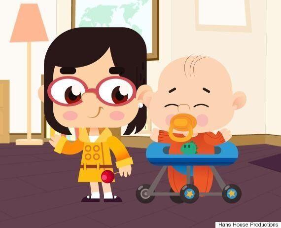 로버트 켈리 교수의 아이들이 주인공인 애니메이션 시리즈가