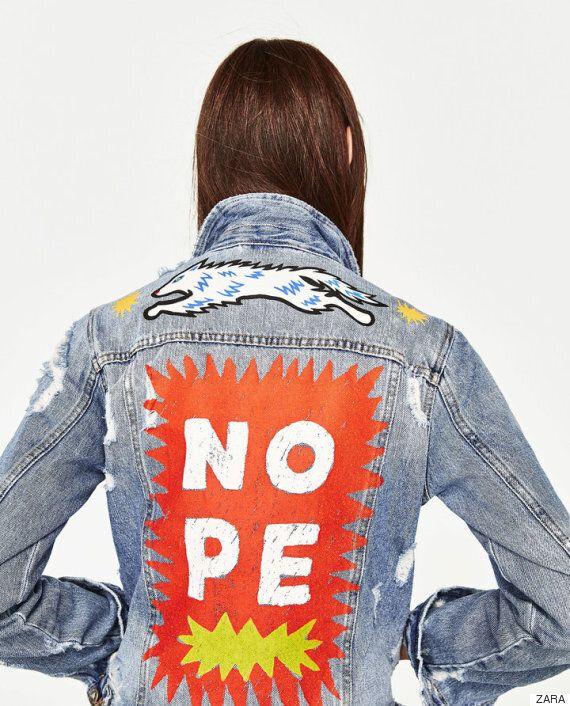 패션 브랜드 '자라'가 '슬픈 개구리'를 활용한 스커트를 제작해