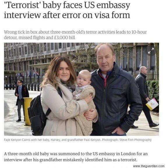 생후 3개월 밖에 안된 아기가 테러리스트 조사를