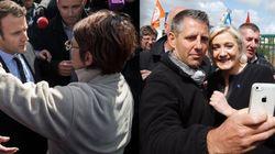 프랑스 대선후보 마크롱은 노동자들의 야유를 받고 마린 르펜은 환호를