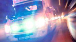 문재인 유세 차량, 오토바이와 충돌 사고