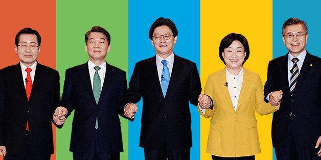 5당 대선 후보들은 첫 TV 토론회에서 이렇게