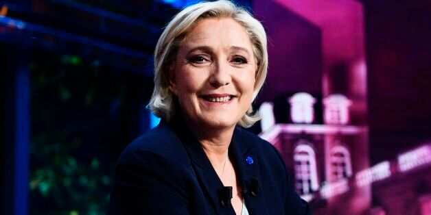 French presidential election candidate for the far-right Front National (FN) party Marine Le Pen poses...