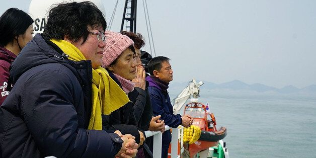 JINDO-GUN, SOUTH KOREA - MARCH 28: In this handout photo released by the South Korean Ministry of Oceans...